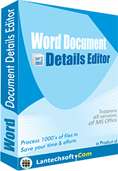 Word Document Details Editor