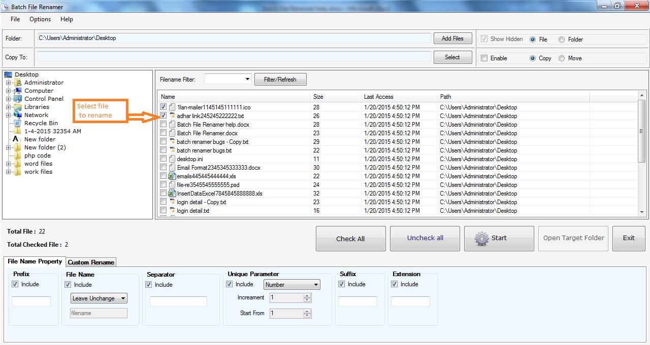 Batch File Renamer
